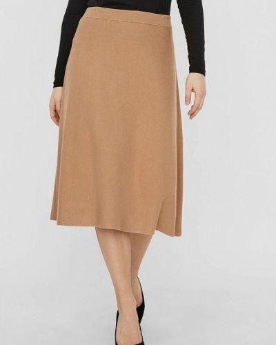 Бежевая юбка свободного кроя Vero Moda