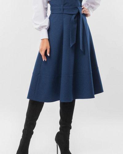 Синяя юбка свободного кроя Remix