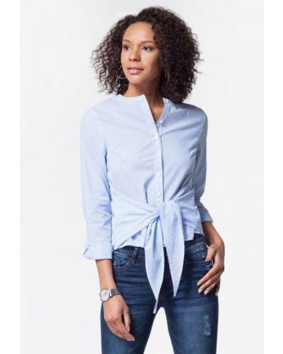 Голубая блузка осенняя Vilatte