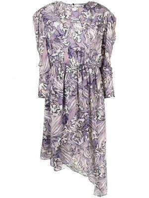 Платье миди с длинными рукавами - фиолетовое Iro