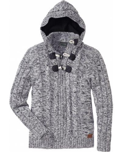 Пуловер с воротником крупной вязки Bonprix