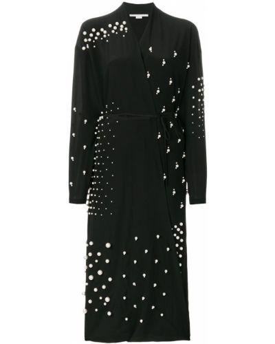Платье миди с запахом с V-образным вырезом с длинными рукавами Stella Mccartney