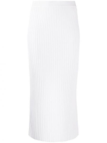 Трикотажная белая с завышенной талией юбка карандаш Mrz