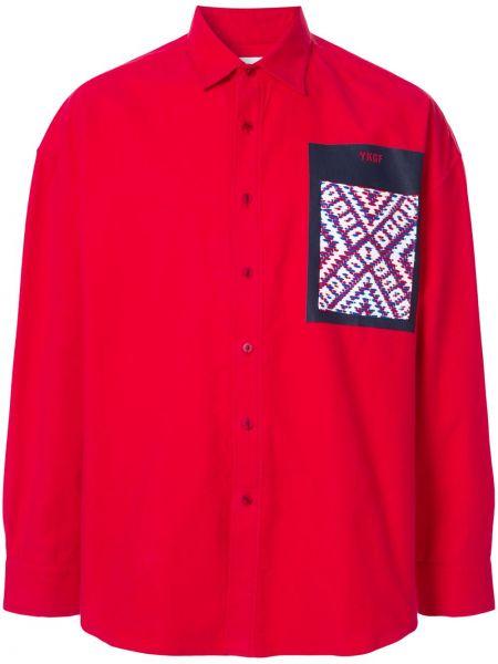 Классическая рубашка с воротником свободного кроя на пуговицах Yoshiokubo