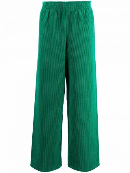 Zielone spodnie bawełniane Raf Simons