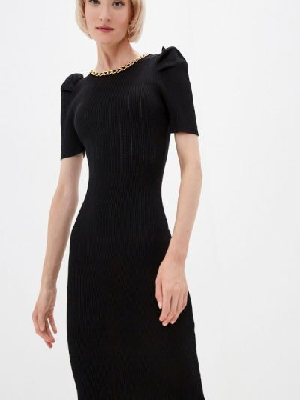 Черное зимнее платье Soky & Soka