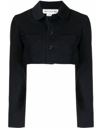 Хлопковый синий пиджак на пуговицах Comme Des Garçons Girl