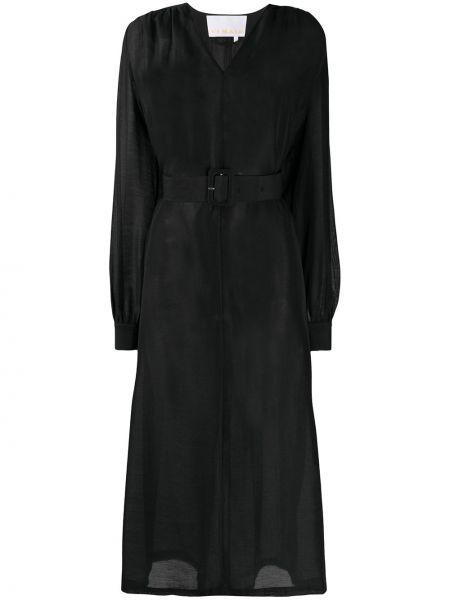 Платье макси с V-образным вырезом с поясом Remain
