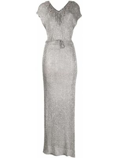 Платье мини с бахромой с разрезами по бокам P.a.r.o.s.h.
