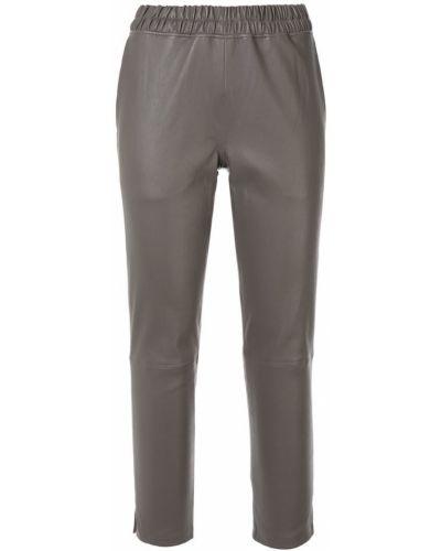 Укороченные брюки серые с карманами Inès & Maréchal