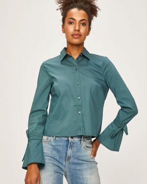 Koszula bawełniana elegancka turkusowa Morgan