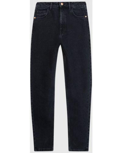 Классические хлопковые зауженные черные джинсы с высокой посадкой Ostin