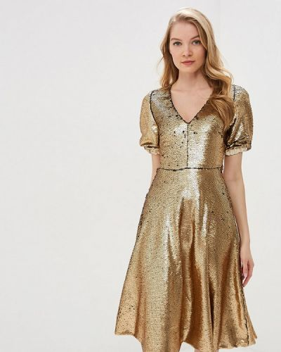 Вечернее платье золотой Tutto Bene