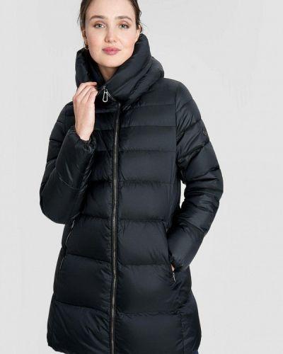 Теплая черная зимняя куртка O'stin