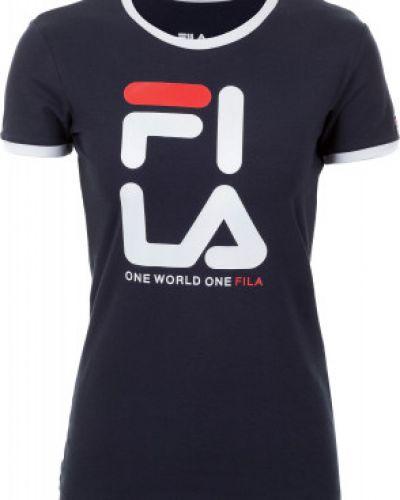 Спортивная футболка хлопковая приталенная Fila