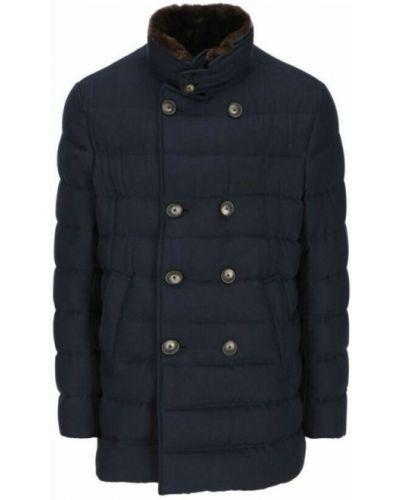 Płaszcz - niebieski Herno