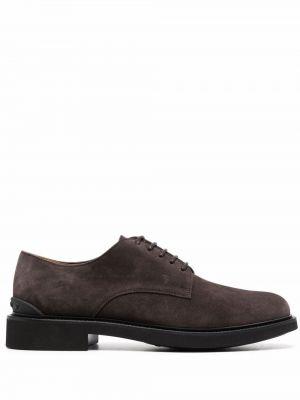 Коричневые резиновые туфли Tods