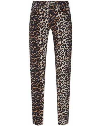 Прямые джинсы леопардовые Ganni