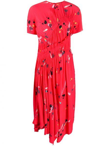 Плиссированное платье миди Preen Line