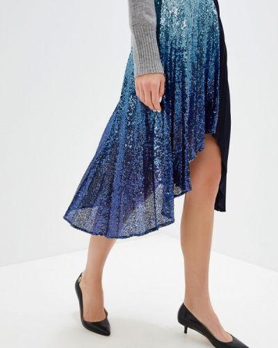 Плиссированная юбка синяя итальянский Pinko
