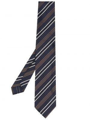 Niebieski krawat z jedwabiu Lardini