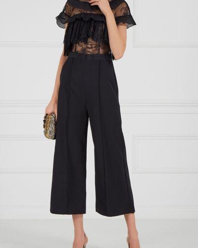 Брючный комбинезон с широкими брюками черный Self-portrait