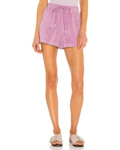 Ватные фиолетовые хлопковые шорты Pam & Gela