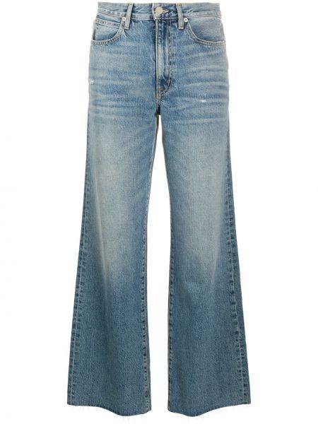 Синие свободные широкие джинсы свободного кроя на молнии Slvrlake