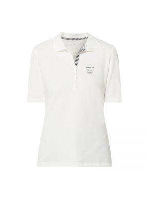 Biały t-shirt bawełniany z printem Tom Tailor