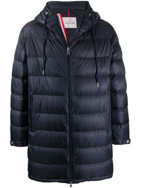 Długi płaszcz z kapturem kurtka grochowa Moncler