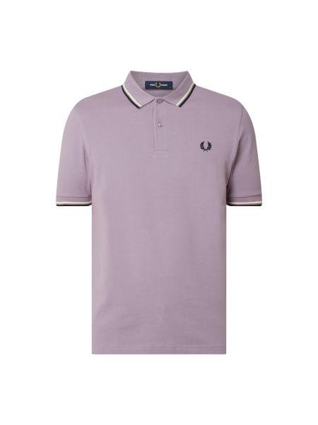 T-shirt bawełniana - fioletowa Fred Perry