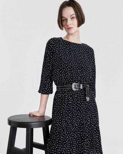 Платье мини с вырезом - черное O'stin