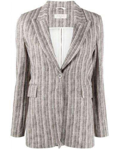 Хлопковый коричневый удлиненный пиджак на пуговицах Circolo 1901