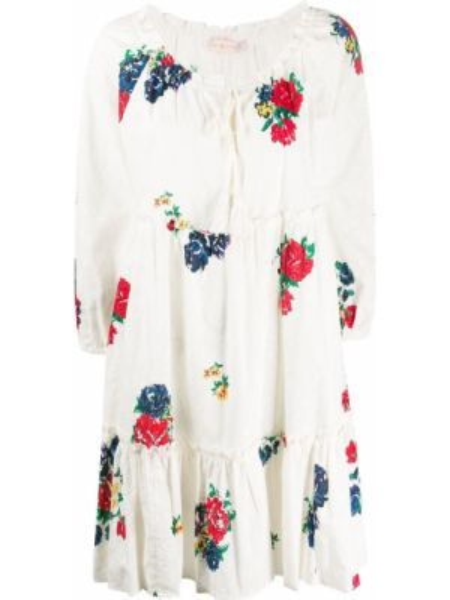 Платье с цветочным принтом расклешенное Tory Burch