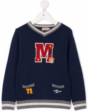 Акриловый длинный свитер Miki House
