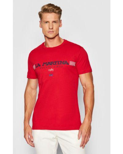 Czerwona t-shirt La Martina