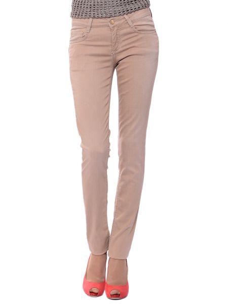 Хлопковые бежевые джинсы Harmont&blaine