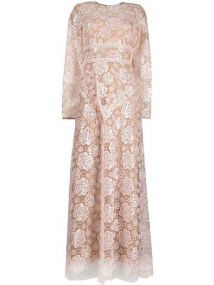 Платье миди - розовое Self-portrait