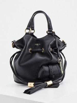 Черная итальянская сумка Lancel