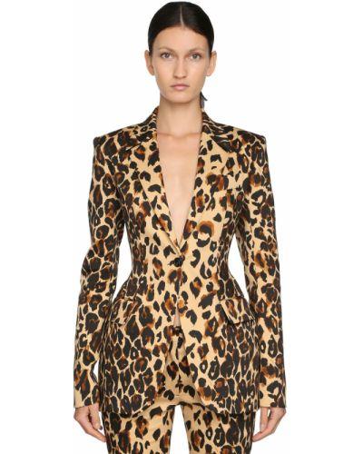 Пиджак приталенный леопардовый Mugler