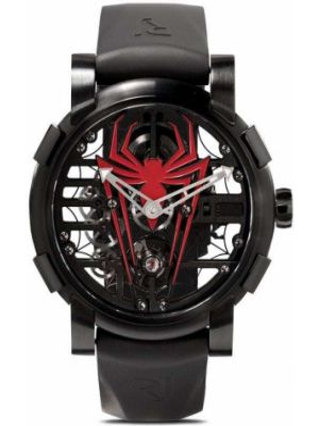 Klasyczny czarny złoty zegarek mechaniczny Rj Watches
