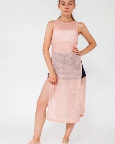 Пляжное платье осеннее розовое Street Style