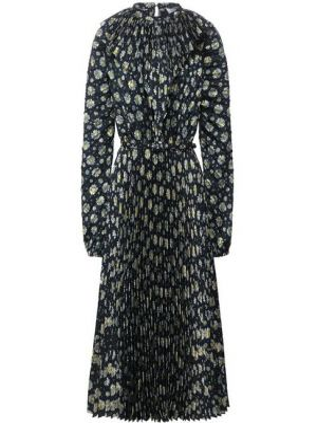 Платье с цветочным принтом шелковое Vetements