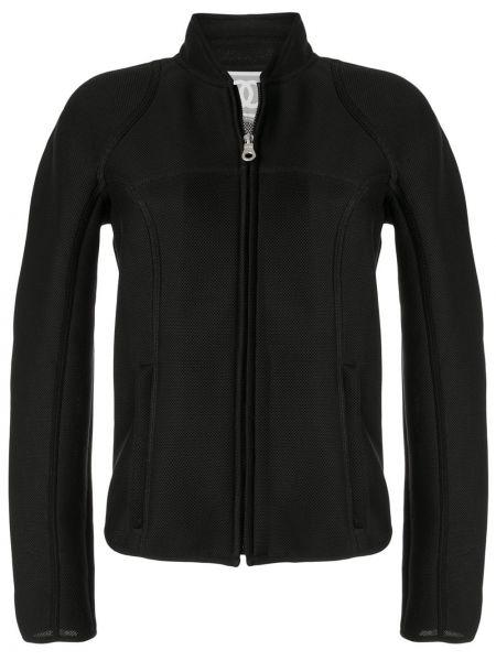 Черная спортивная куртка с манжетами на молнии с воротником Chanel Pre-owned