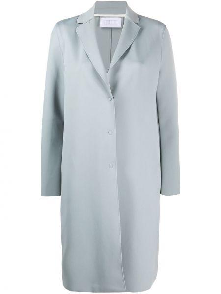 Długi płaszcz zapinane na guziki niebieski Harris Wharf London