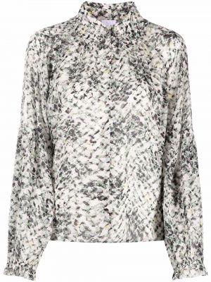 Белая рубашка с принтом Lala Berlin