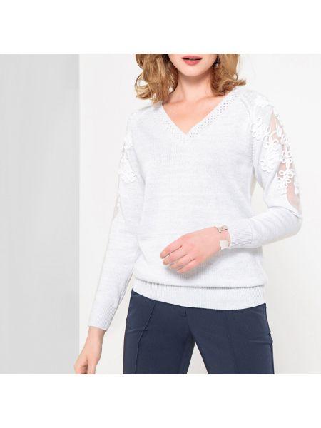 Пуловер с V-образным вырезом из вискозы Anne Weyburn