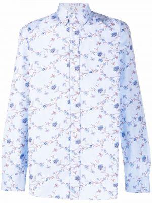 Синяя разноцветная рубашка Etro