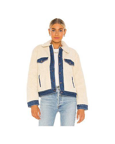 Синяя джинсовая куртка из искусственного меха на кнопках Levi's®