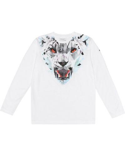 Biała koszula bawełniana Marcelo Burlon Kids Of Milan